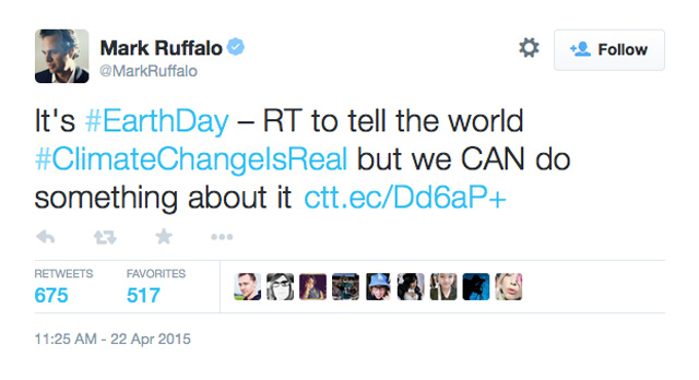 Mark Ruffalo Climate Change Earth Day