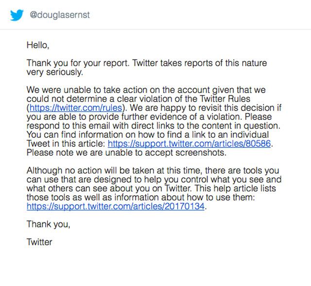 Twitter notice