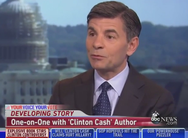 George Stephanopoulous ABC Clinton Cash