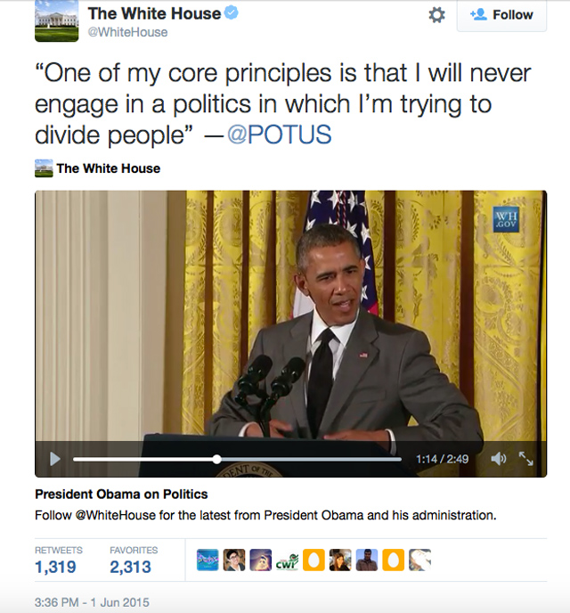 Obama core principle divide