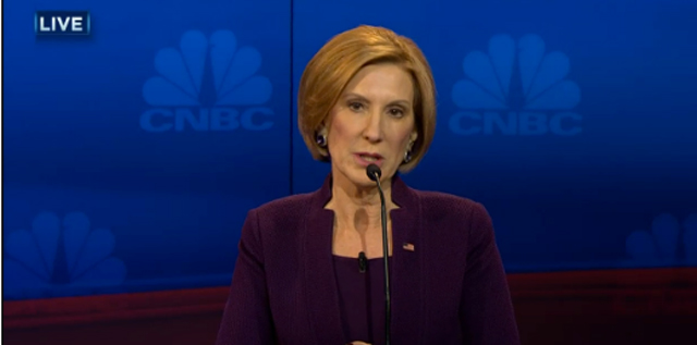 Carly Fiorina CNBC debate