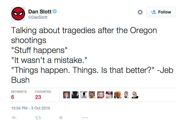 Dan Slott Oregon Shooting
