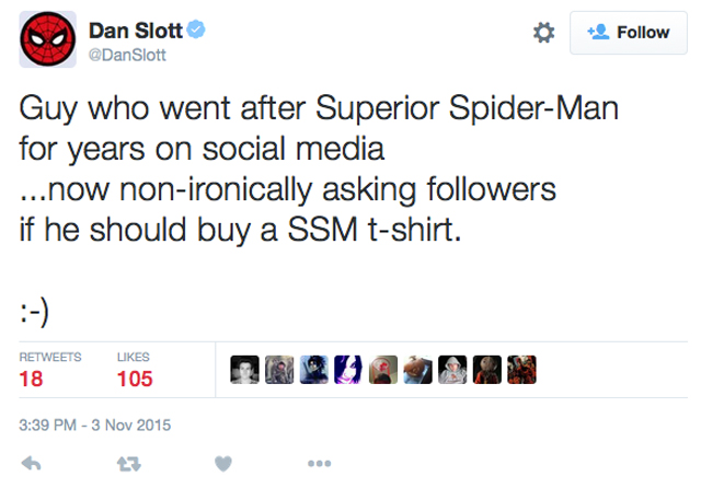 Dan Slott Main Event stalk