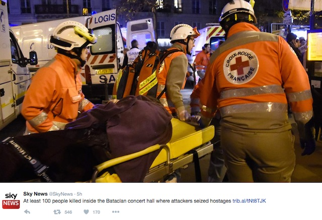 Paris attack emergency workers