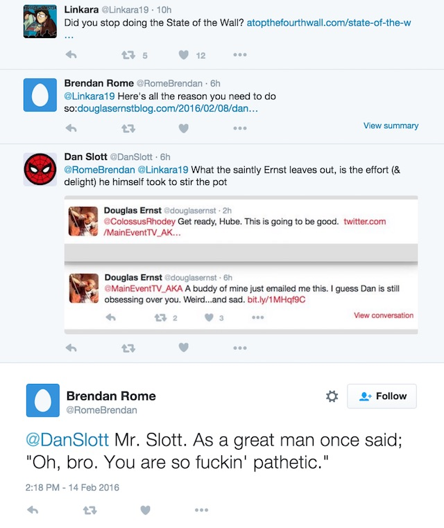Dan Slott stalk screenshot
