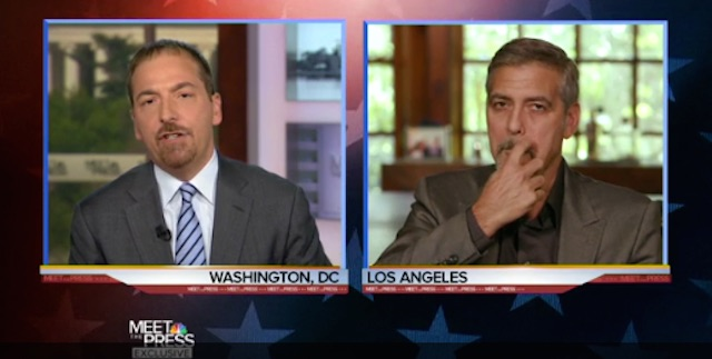 George Clooney Chuck Todd Meet the Press