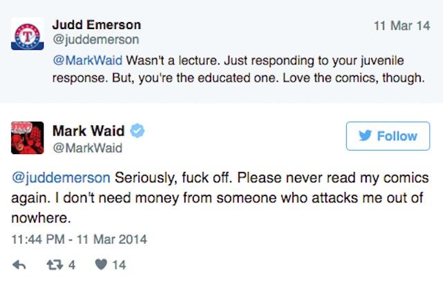 Mark Waid Twitter