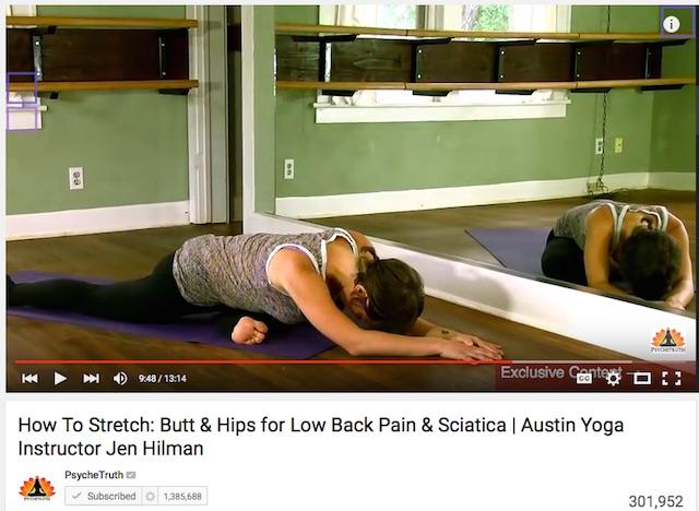 Sciatica yoga