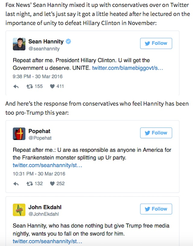 Sean Hannity Trump