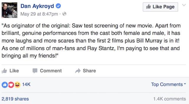 Dan Aykroyd 1 Facebook