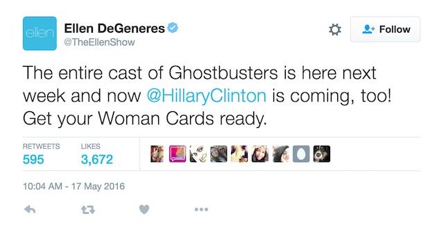 Ellen DeGeneres Hillary Clinton Ghostbusters