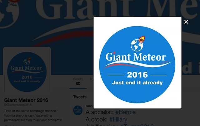 Giant Meteor 2016
