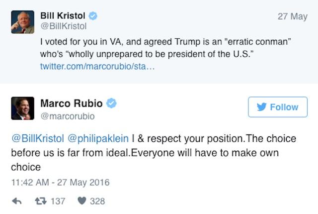 Marco Rubio Bill Kristol twitter
