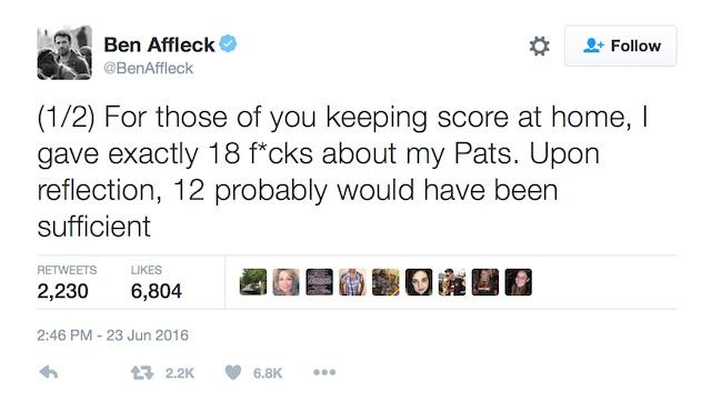 Ben Affleck tweet