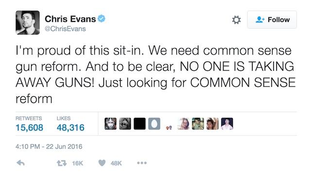 Chris Evans Guns