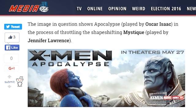X-Men Apocalypse choke Mystique