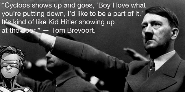 Brevoort Cyclops analogy Hitler