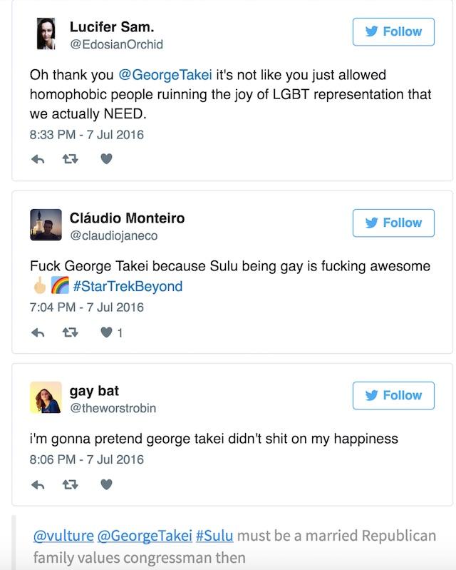 Takei gay Sulu Twitter hate