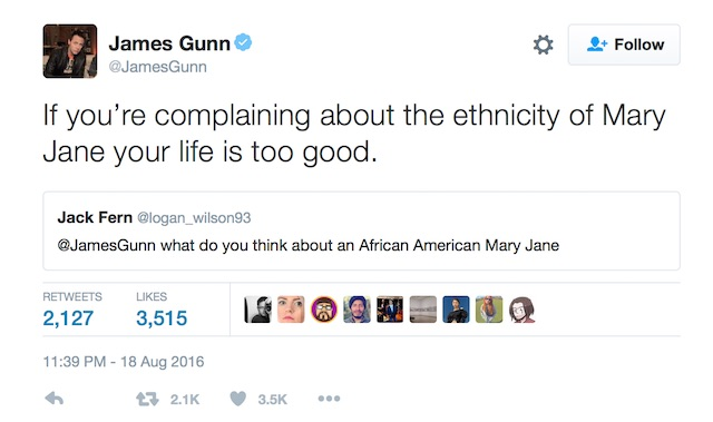 James Gunn MJ tweet