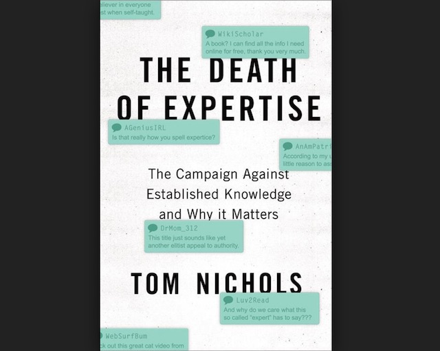 Death of Expertise cover