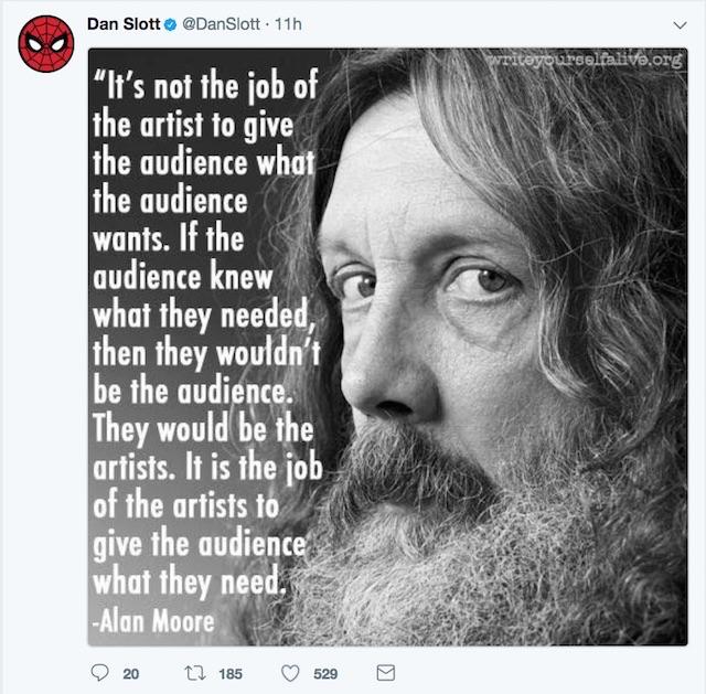 Dan Slott Twitter role of artist