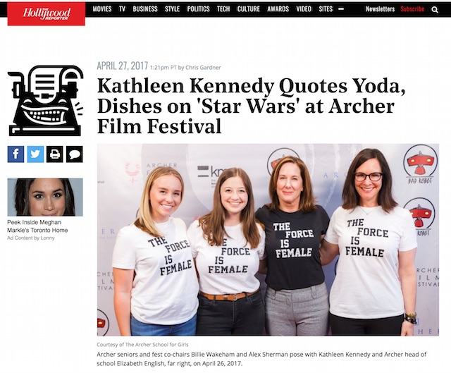 The Force is Female Kathleen Kennedy
