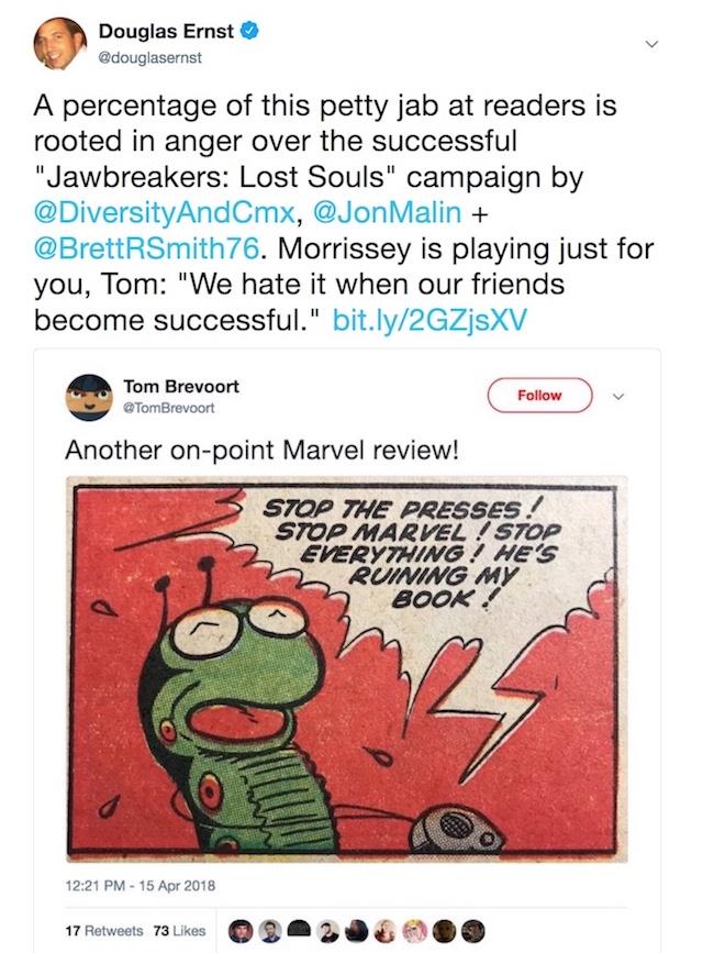 Tom Brevoort mocks fans