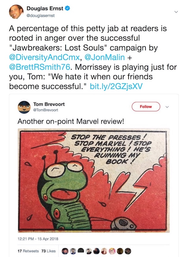 Tom Brevoort mocks fans