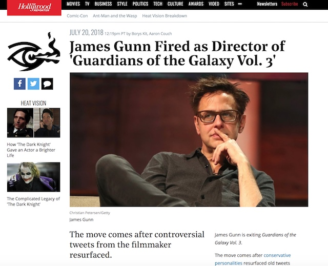 James Gunn THR