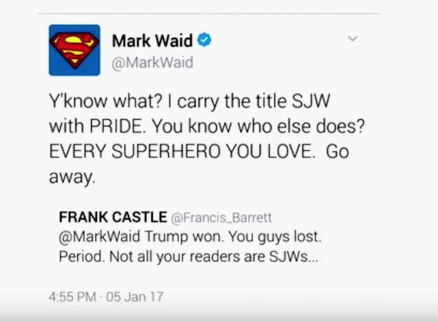 Mark Waid Twitter SJW