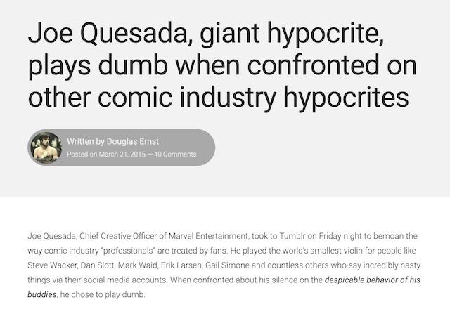 Joe Quesada hypocrite